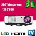 "Newest! Full HD 1080P Native1280*800  2800Lumen 3D  Video game  Home cinema  Portable Projectors 200""big screen"