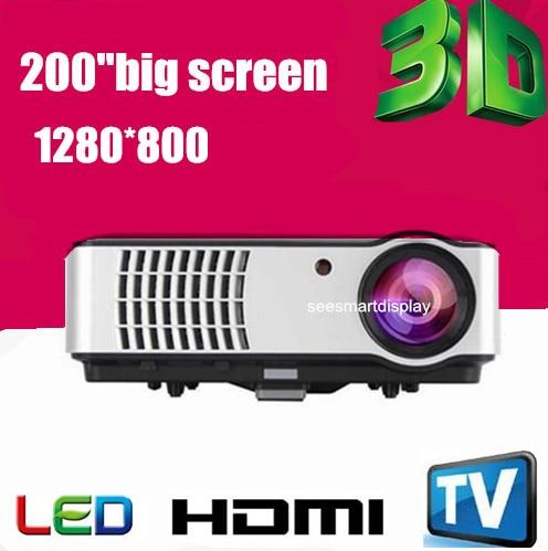 Newest Full HD 1080P Native1280 800 2800Lumen 3D Video game Home cinema Portable font b Projectors