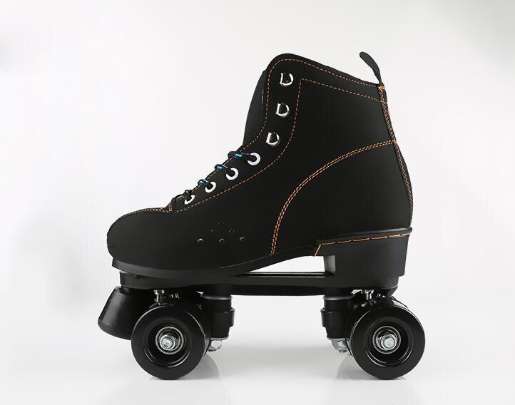 Patins adultes à 2 rangées adultes hommes femmes chaussures de patinage à roulettes Flash baskets chaussures de sport
