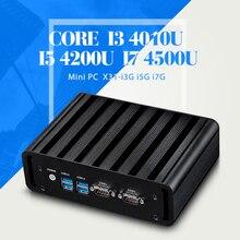 Мини-Компьютер I7 4500U I5 4200U I3 4010U Безвентиляторный Компьютер Desktop pc 4 * USB 3.0, 2 * RJ-45, 2 * COM Ультра Тонкий Мини Стол PC