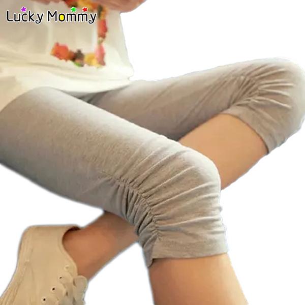 Polainas de maternidad moda para mujeres embarazadas Modal cómodo de maternidad Capris ropa embarazo pantalones del vientre para el verano