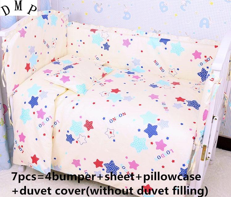 discount 6 7pcs baby bedding sets crib cot bassinette cot bedding set 120 60 120 70cm Discount! 6/7pcs Baby cot bedding set character crib linen set 100% cotton baby bedclothes ,120*60/120*70cm