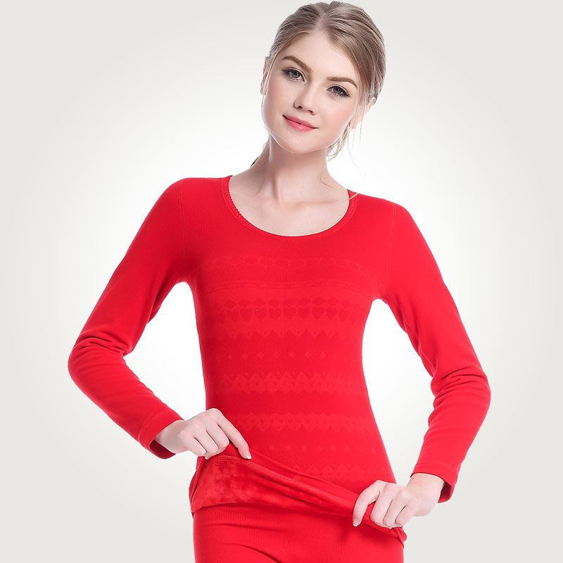 Sexy Spring Winter Warm Long Johns Women Cashmere Cotton Sweater Female Double Seamless Thermal Underwear Suits Clothes Sets
