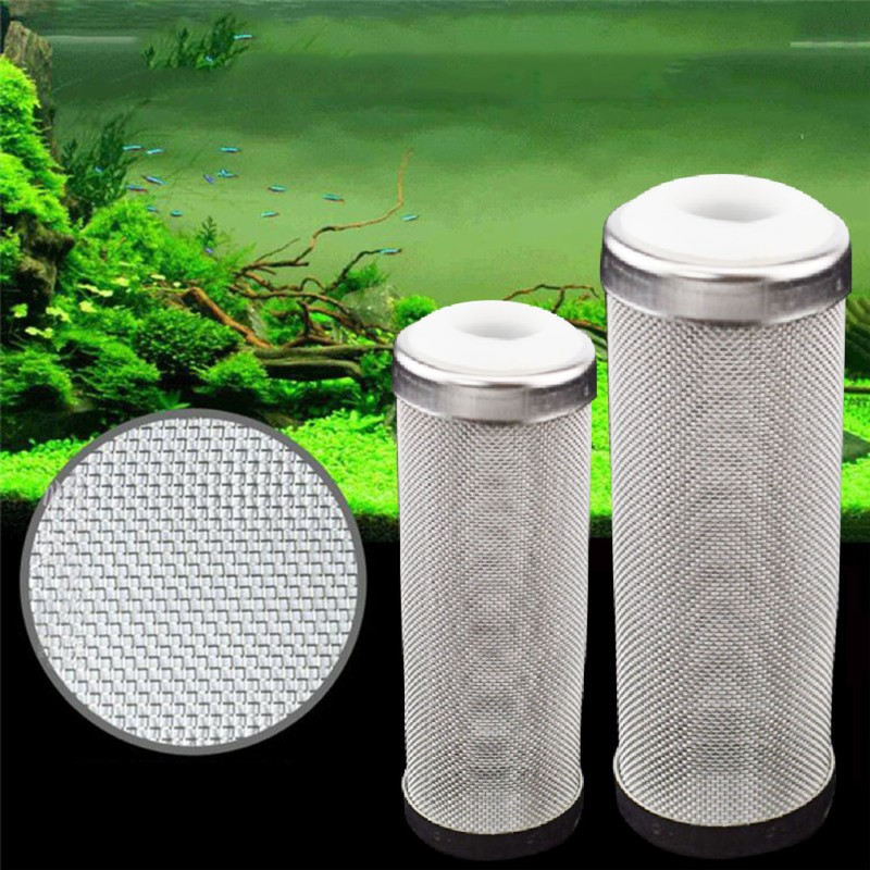 Stainless Steel Fish Inlet Protector Mesh Filter Nets Set Special Aquarium Shrimp Cylinder Filter Inflow Inlet Protector Case