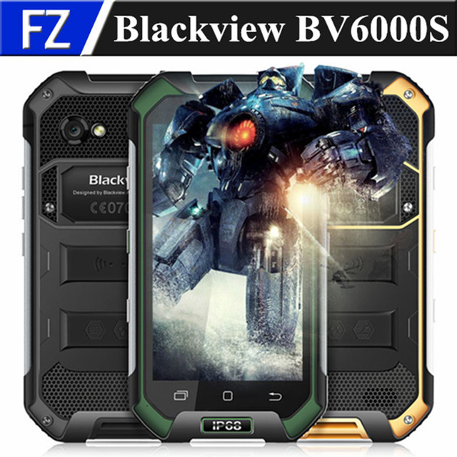 "Original BLACKVIEW BV6000S 4.7"" HD Waterproof IP68 MTK6737T Android 6.0 4G LTE Rugged phone 13MP 2GB RAM 16GB ROM dual sim GPS"