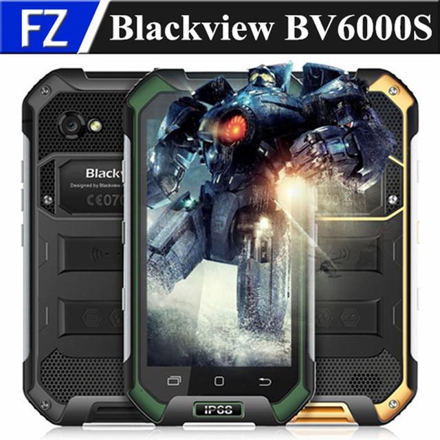 "Original BLACKVIEW BV6000S 4.7"" HD Waterproof IP68 MTK6737T Android 6.0 4G LTE Rugged phone 13MP 2GB RAM 16GB ROM dual sim GPS"