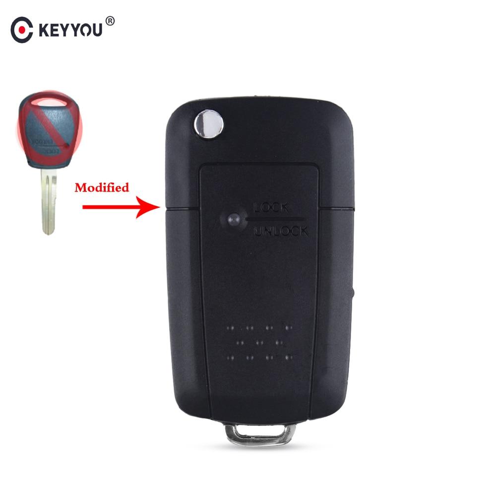 chiave telecomando per Kia Rio Picanto Carens Remote Key Shell Case Cover 1 Side Button Flip Folding Car Key Left