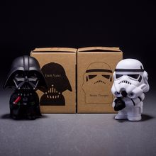10cm 2pcs/lot Cute Style Star War Darth Vader & STORM TROOPER Kawaii Movie Action Figure Model Toys(China)
