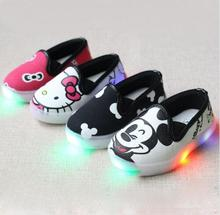 Boys Girls Chaussure enfant Hello Kitty Children light shoes sneakers sneakers children's shoes for girls Baby Canvas