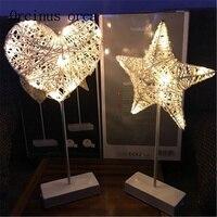 LED light ins lights girl heart room decoration lamp hand love star lamp battery Postage free