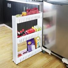 Mehrzweck Regal mit Abnehmbaren Rädern riss rack Bad Lagerung Lagerregal Regal mehrschichtige kühlschrank seite regal