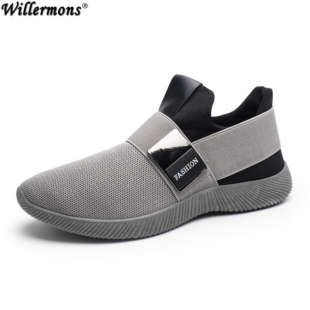 615f77087e6a Men s Summer Breathable Mesh Casual Loafers Shoes Men Fashion Slip on  Leisure Flats Sneakers Shoes Sapatos