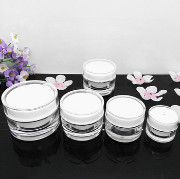 100pcs 15g 20 grams white cosmetics packaging wholesale, 15 G 20G empty acrylic cosmetic jar , plastic cosmetic jar wholesale