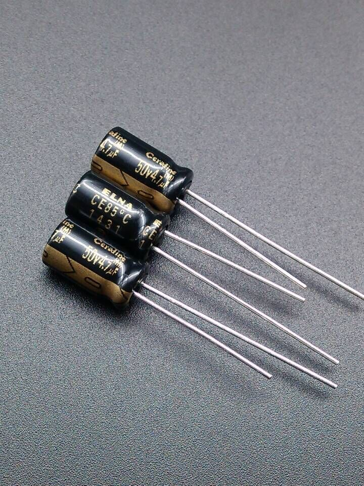 2pcs//20pcs ELNA gold-plated feet Cerafine 47uF//16V audio electrolytic capacitor