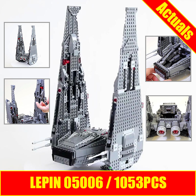 Lepin 05006 Star Kylo Ren Command Shuttle LEPIN Building Blocks Educational Toys Compatible with 75104 Lovely Funny Toys wars logitech g100s usb wired 250 2500dpi optical gaming mouse black white 208 cable