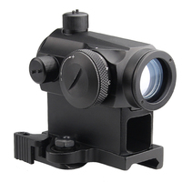 New Mini Micro 1X24 Reflex Green & Red Dot Scope Sight with QD Quick Riser Mount Quick Detach Red Dot sight for Hunting Airsoft