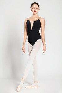 Image 2 - Bale Mayoları Yetişkin Yeni Stil Siyah Seksi Rahat Uygulama Dans Elbise Kadın Jimnastik Leotard Ucuz Bale Dans Giyim