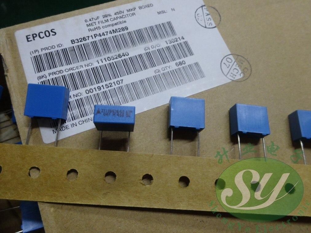 2019 hot sale 10pcs/30pcs EPCOS 0.47uf/450v 470nf u47 474 new 10MM film capacitor B32671P4474M free shipping2019 hot sale 10pcs/30pcs EPCOS 0.47uf/450v 470nf u47 474 new 10MM film capacitor B32671P4474M free shipping