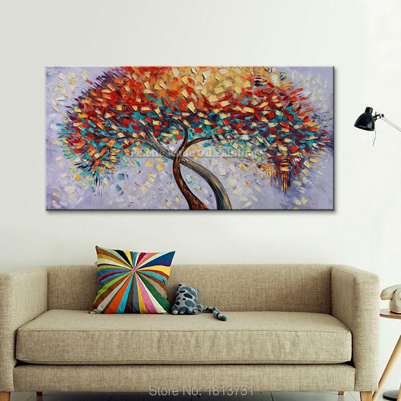 Lukisan Minyak Buatan Tangan Pisau Palet Bunga Lukisan Minyak Di Atas - Dekorasi rumah - Foto 3