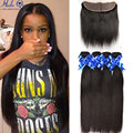 8a Brazilian Virgin Hair With Frontal Closure Bundle Lace Frontal Closure With Bundles Straight Hair With 13x4 Frontal Closure