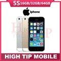 Запечатанной коробке Оригинал Factory Unlocked apple iphone 5s телефон 16 ГБ/32 ГБ/64 ГБ ROM IOS GPS GPRS LTE Используется Бесплатный Подарок 1 года гарантия
