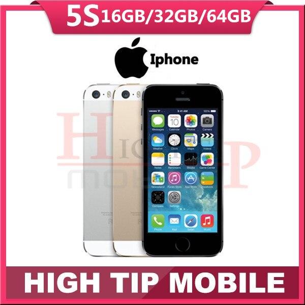 Sealed box Original Factory Unlocked apple iphone 5s phone 16GB 32GB 64GB ROM IOS GPS GPRS