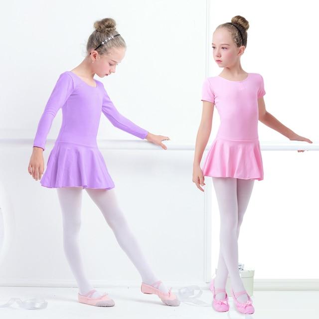Хлопковое танцевальное платье для балета для маленьких девочек, детская танцевальная одежда для балета, тренировочная Одежда для танцев
