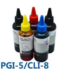 Pgi5 cli8 пополнения чернил снпч чернила для принтера для canon pixma ip4200/ip3300/ip4500/ix4000/ix5000/ip4300/mp970/ip5300/pro9000