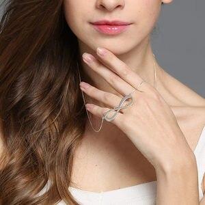 Image 3 - AILIN spersonalizowany naszyjnik nieskończoności nazwa własna naszyjnik kobiety 925 srebro arabski łańcuszek naszyjnik świąteczny prezent