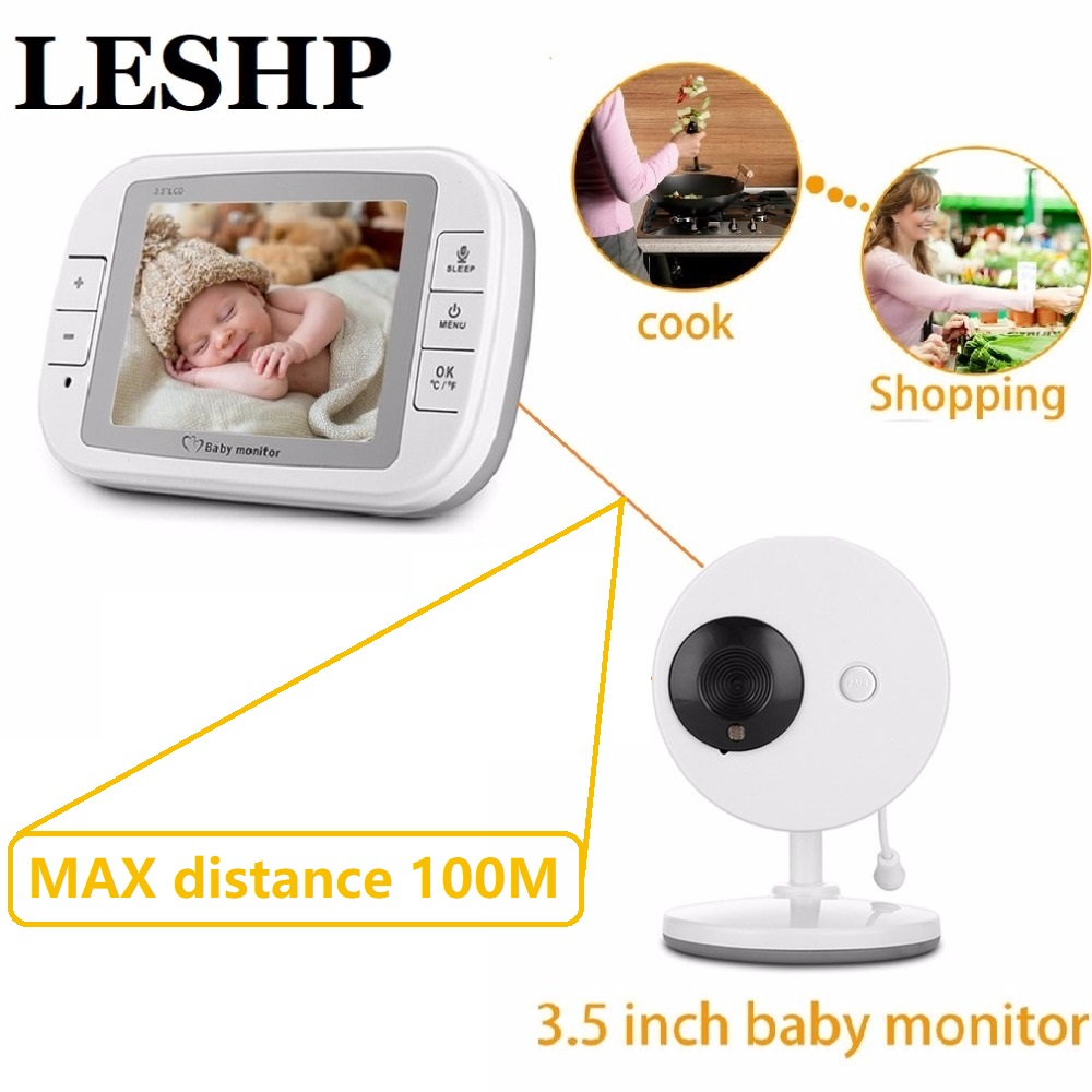 3.5 Inch Wireless Baby Monitor TFT LCD Video Night Vision 2-way Audio Infant Baby intercom Camera Digital Video Babysitter