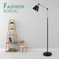 Nordic Modern Marble Floor Lamp Living Room Bedside Fishing Deco Lighting Luminaire Black White LED Floor standing Lamp