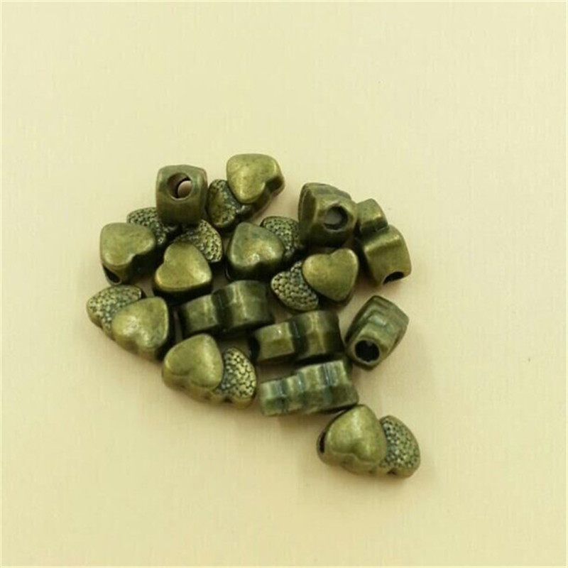Mini Beads Love Hearts Old Silver Bronze Beads Charms Pendants Diy Beads Fit 5mm 13x8mm 30pcs T439 Lead Free Nickel Free Beads Jewelry & Accessories