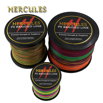 Hercules PE Braided Fishing Line Multicolor Sea Saltwater Fishing Cord Super Strong 4 Strands 100M 300M 500M 1000M 1500M 2000M ghotda 8 strands 1000m 500m 300m pe braided fishing line tresse peche saltwater fishing weave superior extreme super strong