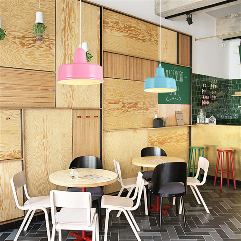 Modern Minimalist Pendant Lamp Creative Led Bar Living Room Bedroom Cafe Tea Shop Restaurant Acrylic Colorful Light Fixtures цена