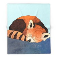 Blanket Custom Red Panda Fleece Blanket Sofa/Bed/Plane Travel Plaids Bedding Towel