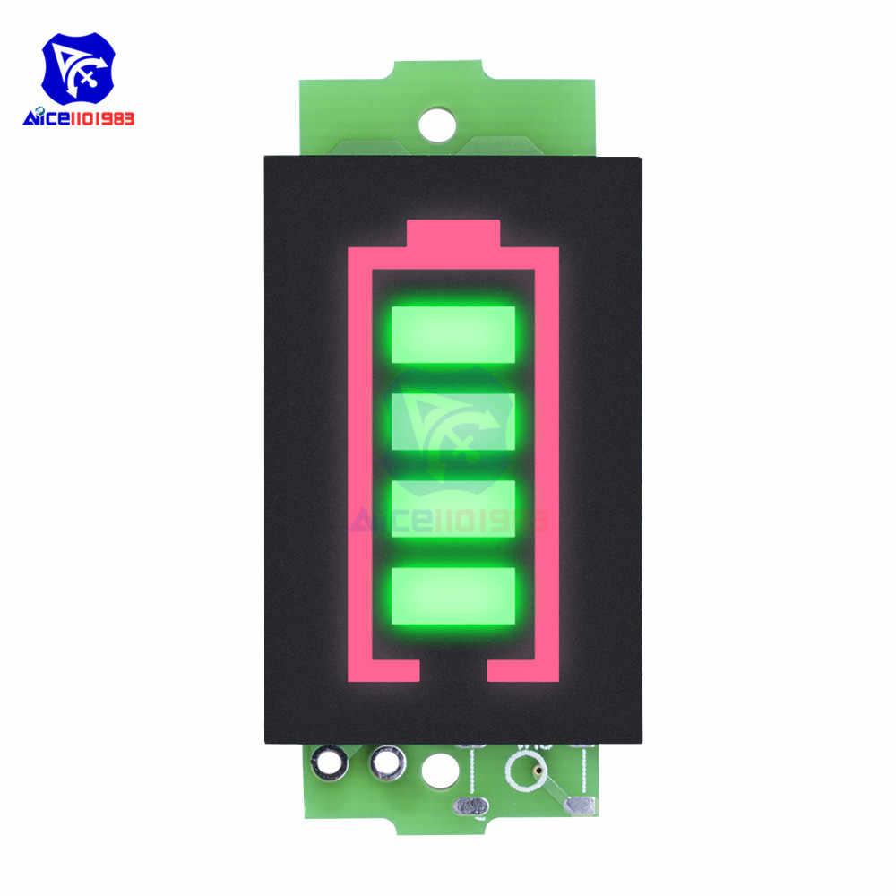 1 S/2 S/3 S/4s/6 S/7 S سلسلة Li-po بطارية ليثيوم أيون قدرة الأخضر مؤشر وحدة 4 مستوى LED عرض جهاز اختبار بطارية السيارة