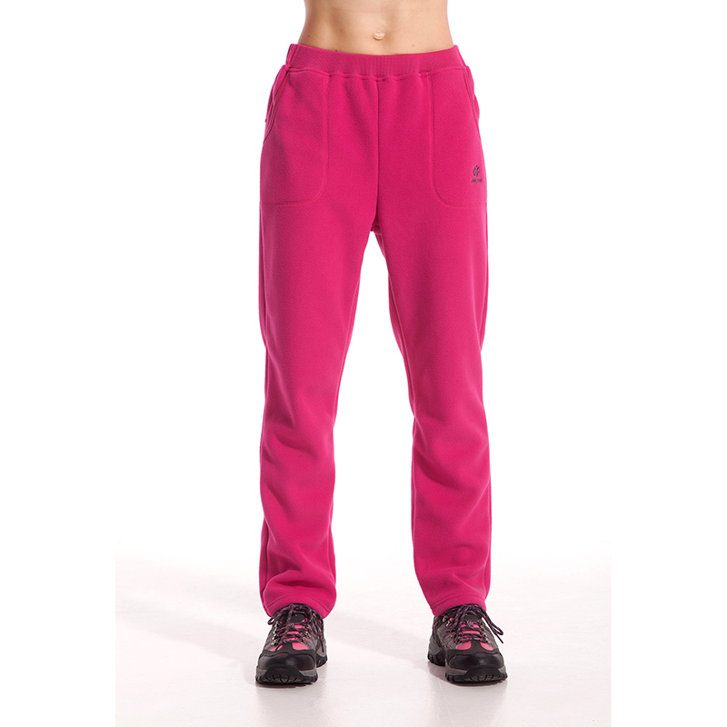 women autumn hunting pants warm polar fleece trouser for outdoor female soft comfortable sports full length