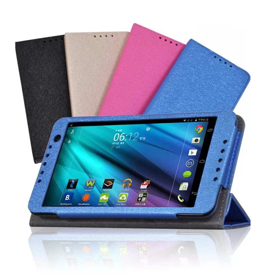 Talk S A1 724 Magnet Tablet Case  For Acer Iconia Talk S A1-724 7'' Silk Print 3-Folding Stand Pu Leather Case For Acer A1-724