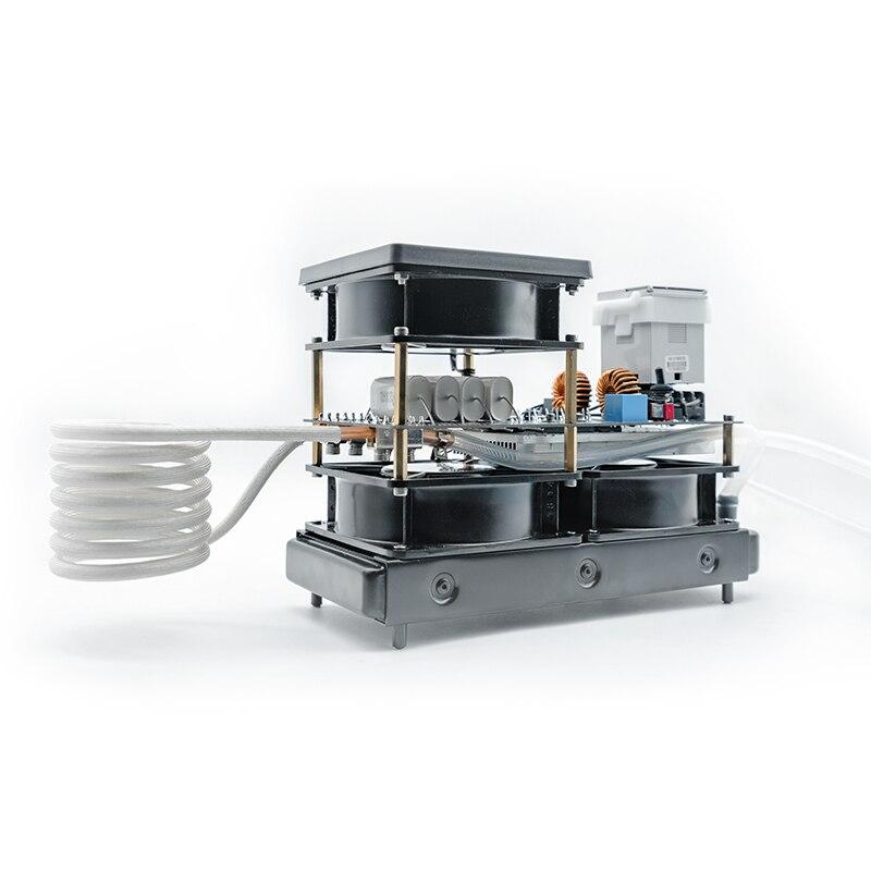220 V ZVS de Médio e de Alta Freqüência Máquina de Aquecimento Por Indução forno de fusão de ouro e prata Em Miniatura de Metal Ferramentas de extinção Y