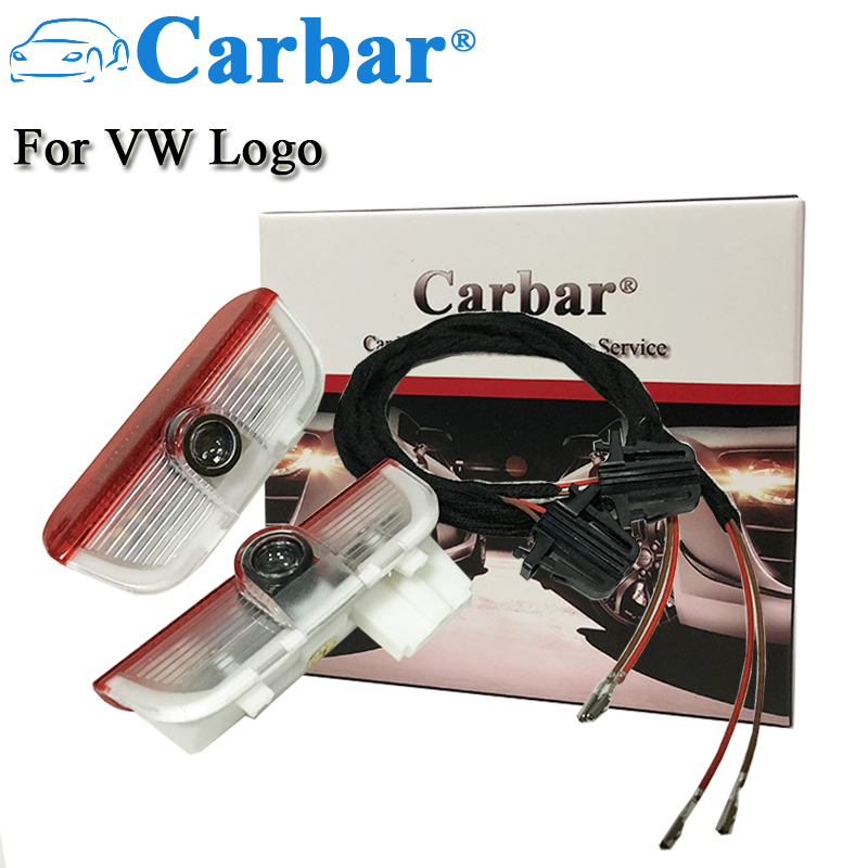 Carbar# LED Welcome Car Light Door Logo Projector Lamp Ghost Shadow Lights For VW Courtesy Light Logo Good Quality