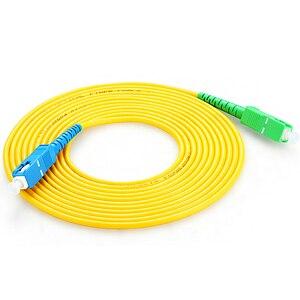 Image 2 - 15 m SC APC di SC UPC SC PC G657A Fiber Patch Cable, Ponticello, patch Cord Simplex 2.0 millimetri SM Fibra Patchcord