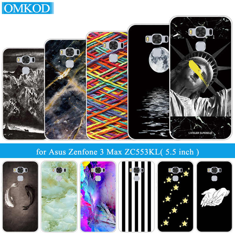 For Asus Zenfone 3 Max ZC553KL Fundas For Asus ZC553KL Cover Clear Soft TPU Silicone zc553kl 5.5 inch Fish Phone Cases