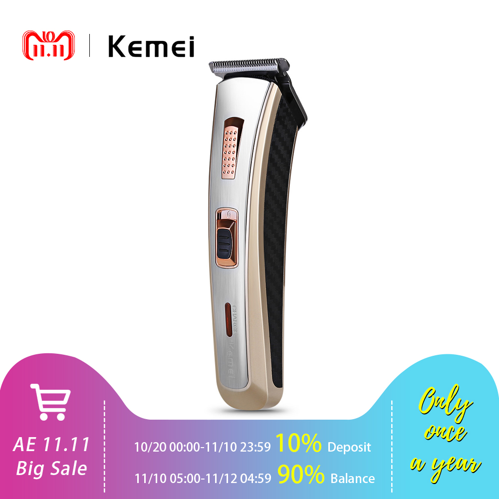 KEMEI KM - 5117 Professional 220-240V Electric Hair Trimmer Clipper Haircut Shaving Machine Adults Kid With 4 Trimming Combs