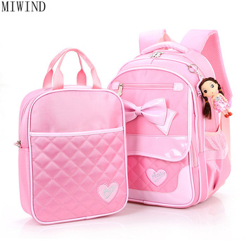 Children Backpack Schoolbags Cartoon Knapsack For Youth High Quality Nylon PU Backpack Child Book Bag TY768