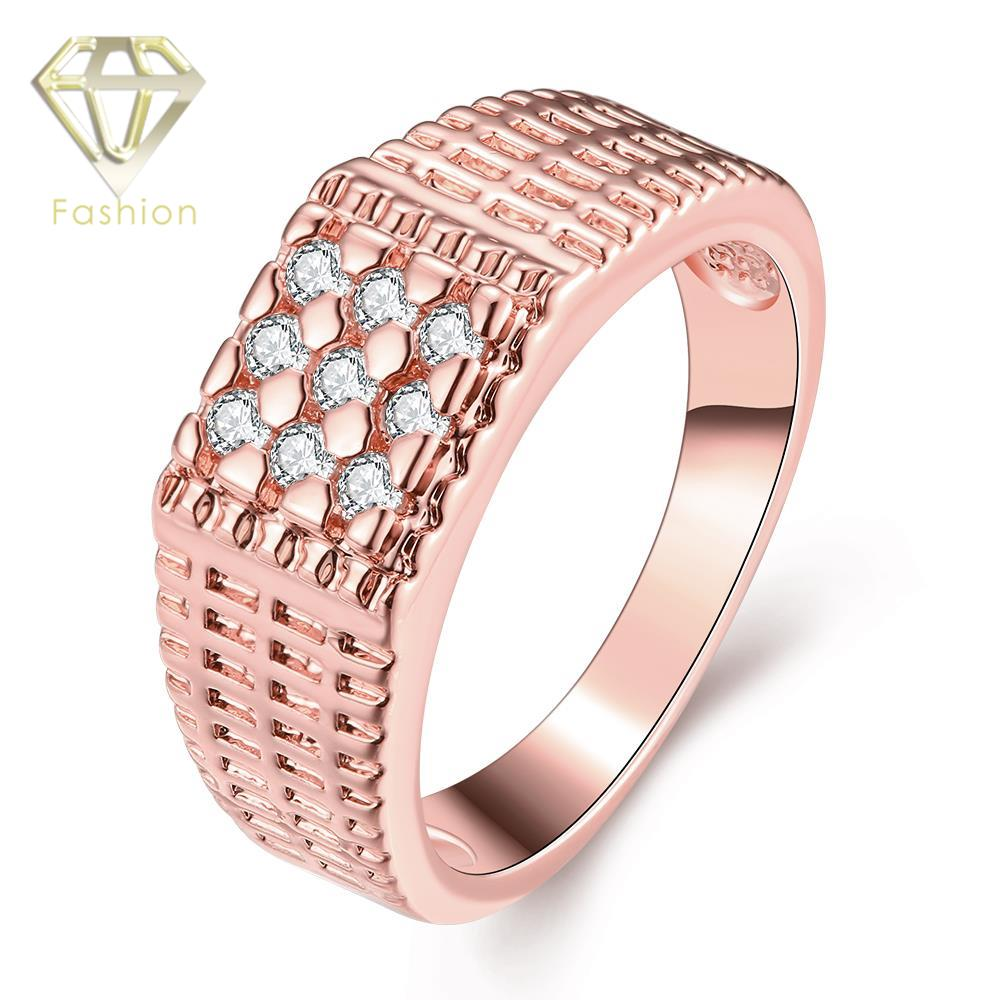 Expensive Wedding Rings Classic Simple Round /Rose Gold Color with ...