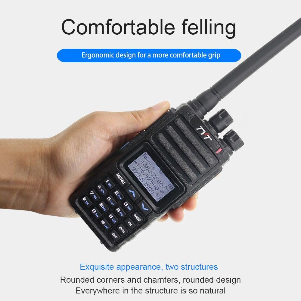 New TYT TH-350 Tri-band Walkie Talkie 136-174MHZ 220-260MHZ 400-470MHZ Tri-Standby UV Transceiver 5W FM Radio Like TH-UV9D