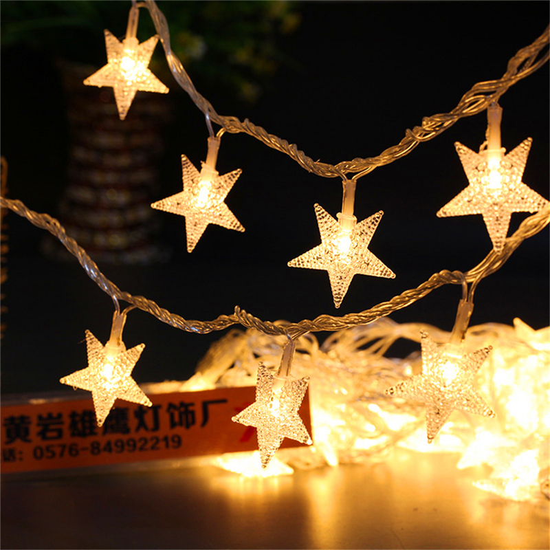New Year 10M 100LED Garland Outdoor Star String Lights Christmas Xmas  Decoration Wedding Party LED String