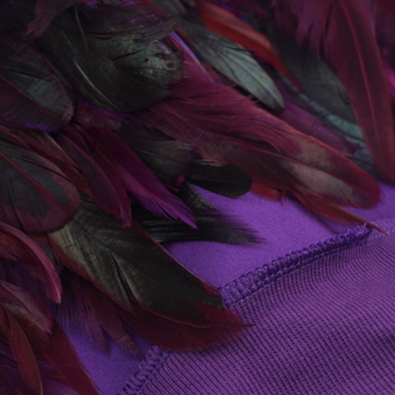 Autunno Spesse Moda gray Piuma Breve Casuale Patchwork Jq337 violet Street Top Allentato Di Felpe Donne Inverno Black Style Rimovibile Personalità nIxYIUr4Wq