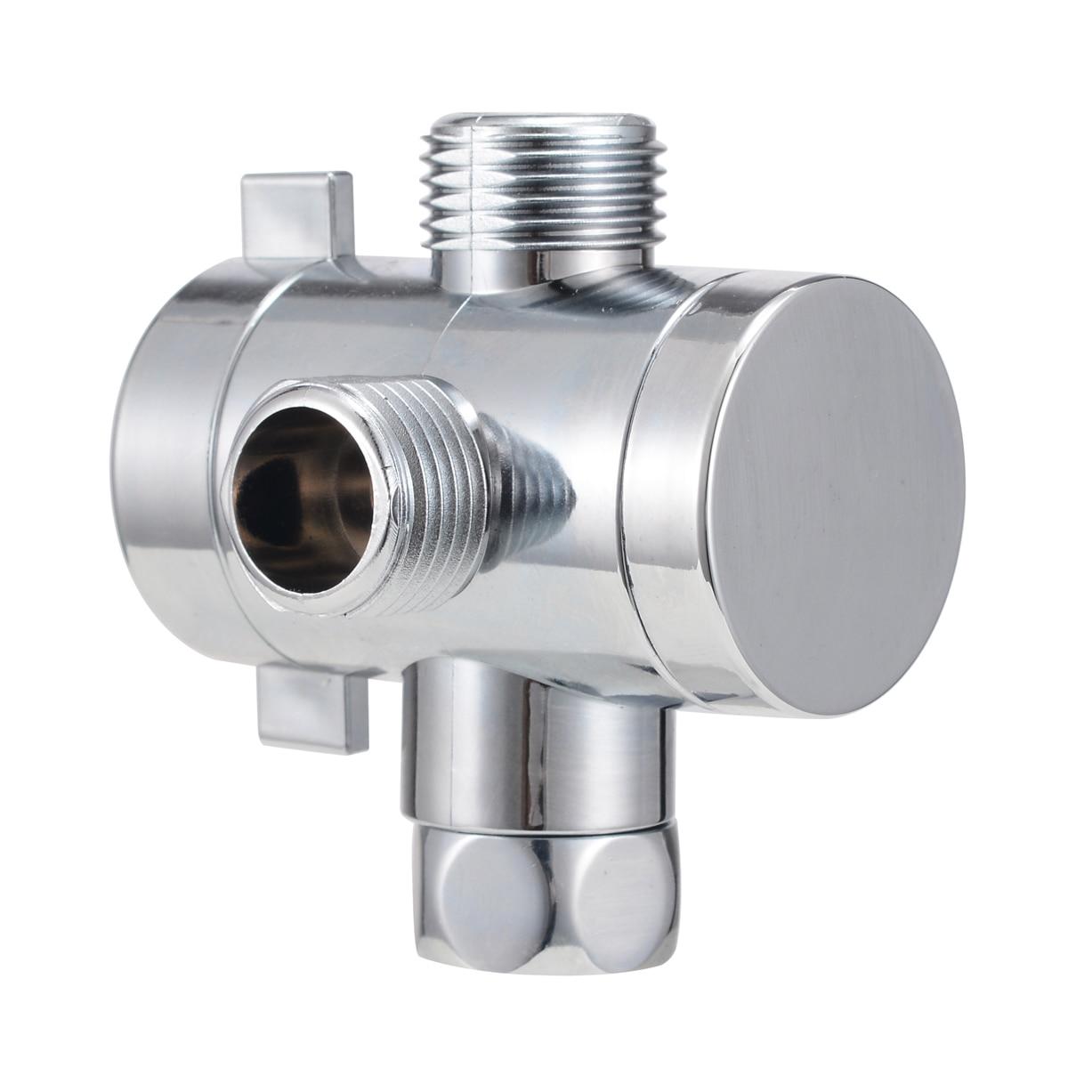 1pc 1 2inch 3 Way T adapter Diverter Bath Arm Mounted Connector Diverter Bath Adjustable Shower Diverter Valve Bathroom Part in Shower Heads from Home Improvement