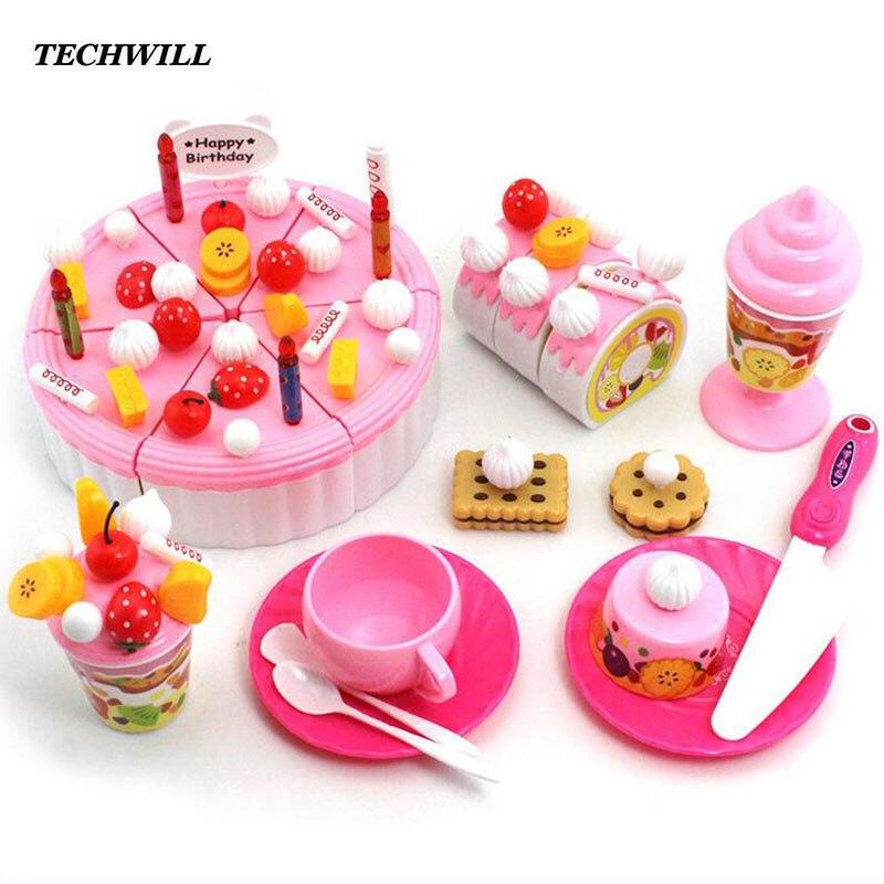 Food Toys For Girls : Aliexpress buy simulation fruit birthday cake diy